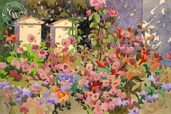 Bee Bliss, California art by Carolyn Lord. HD giclee art prints for sale at CaliforniaWatercolor.com - original California paintings, & premium giclee prints for sale