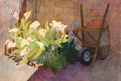 Callas and Barrow, 2017, a California watercolor painting by Carolyn Lord. HD giclee art prints for sale at CaliforniaWatercolor.com - original California paintings, & premium giclee prints for sale