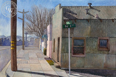 "Isings at North ""I"" and Railroad, 2007, California art by Carolyn Lord. HD giclee art prints for sale at CaliforniaWatercolor.com - original California paintings, & premium giclee prints for sale"