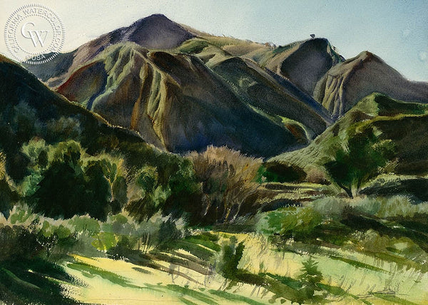 Sculptured by God's Hand, California art by Emil Kosa Jr.. HD giclee art prints for sale at CaliforniaWatercolor.com - original California paintings, & premium giclee prints for sale