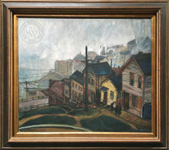 Emil Kosa Jr. - Telegraph Hill, c. 1930's, an original California oil painting for sale, original California art for sale - CaliforniaWatercolor.com