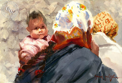 Indian Madonna, California art by Frank LaLumia. HD giclee art prints for sale at CaliforniaWatercolor.com - original California paintings, & premium giclee prints for sale