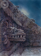 Teotihuacan, Mexico, California art by Frank LaLumia. HD giclee art prints for sale at CaliforniaWatercolor.com - original California paintings, & premium giclee prints for sale