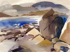 Carmel Coast, California art by George Post. HD giclee art prints for sale at CaliforniaWatercolor.com - original California paintings, & premium giclee prints for sale