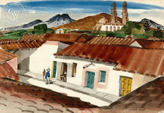 Mexico, California art by George Post. HD giclee art prints for sale at CaliforniaWatercolor.com - original California paintings, & premium giclee prints for sale