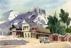 Mammoth Town, California art by Hugh Duncan. HD giclee art prints for sale at CaliforniaWatercolor.com - original California paintings, & premium giclee prints for sale