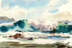 Newport Beach, California art by Hugh Duncan. HD giclee art prints for sale at CaliforniaWatercolor.com - original California paintings, & premium giclee prints for sale