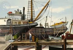 Drydock, California art by Jake Lee. HD giclee art prints for sale at CaliforniaWatercolor.com - original California paintings, & premium giclee prints for sale