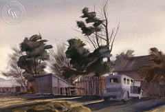 Abandoned, 1938, California art by James Hollins Patrick. HD giclee art prints for sale at CaliforniaWatercolor.com - original California paintings, & premium giclee prints for sale
