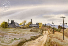 Calimesa, (Yucaipa Valley) CA, 1937, California art by James Hollins Patrick. HD giclee art prints for sale at CaliforniaWatercolor.com - original California paintings, & premium giclee prints for sale