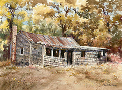 Abandoned, California art by John Bohnenberger. HD giclee art prints for sale at CaliforniaWatercolor.com - original California paintings, & premium giclee prints for sale