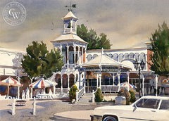 Downtown, California art by John Bohnenberger. HD giclee art prints for sale at CaliforniaWatercolor.com - original California paintings, & premium giclee prints for sale