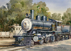 Steel Locomotive, Griffith Park, L.A., California art by John Bohnenberger. HD giclee art prints for sale at CaliforniaWatercolor.com - original California paintings, & premium giclee prints for sale