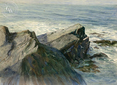 The Rocky Shore, California art by John Bohnenberger. HD giclee art prints for sale at CaliforniaWatercolor.com - original California paintings, & premium giclee prints for sale