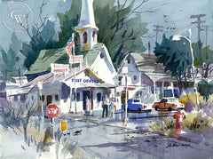 Valley Market, California art by John Bohnenberger. HD giclee art prints for sale at CaliforniaWatercolor.com - original California paintings, & premium giclee prints for sale