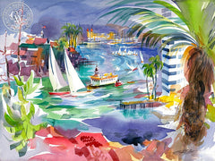 Balboa Bay, 2005, California art by Ken Potter. HD giclee art prints for sale at CaliforniaWatercolor.com - original California paintings, & premium giclee prints for sale