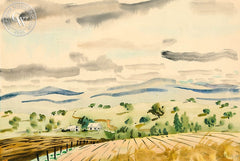 Country Hills, California art by Lee Blair. HD giclee art prints for sale at CaliforniaWatercolor.com - original California paintings, & premium giclee prints for sale