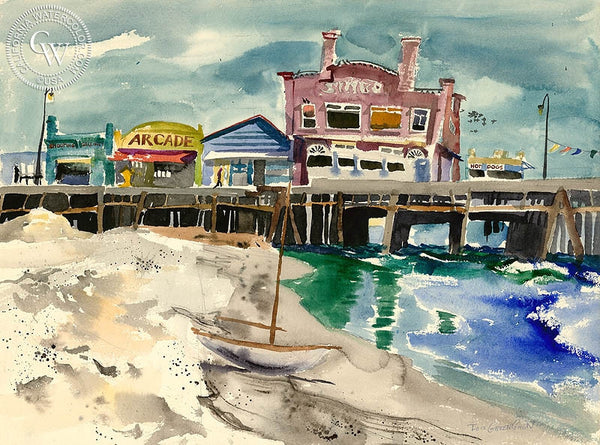 Arcade, California art by Lois Green Cohen. HD giclee art prints for sale at CaliforniaWatercolor.com - original California paintings, & premium giclee prints for sale