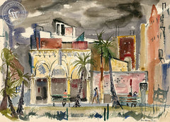 Venice, California, California art by Lois Green Cohen. HD giclee art prints for sale at CaliforniaWatercolor.com - original California paintings, & premium giclee prints for sale