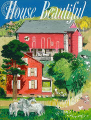 House Beautiful, c. 1940's, California art by Millard Sheets. HD giclee art prints for sale at CaliforniaWatercolor.com - original California paintings, & premium giclee prints for sale