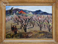 Millard Sheets - California Blossom TIme, 1930, an original California oil painting for sale, original California art for sale - CaliforniaWatercolor.com