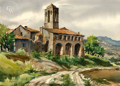 Oratorio, Alanno, Italy, California art by Othello Michetti. HD giclee art prints for sale at CaliforniaWatercolor.com - original California paintings, & premium giclee prints for sale
