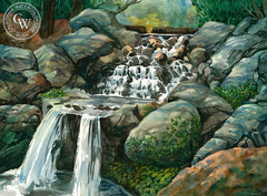 Descanso Gardens, California art by Sid Bingham. HD giclee art prints for sale at CaliforniaWatercolor.com - original California paintings, & premium giclee prints for sale