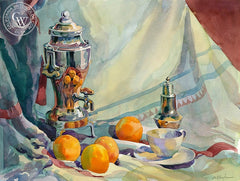 Nana's Coffemaker, California art by Sid Bingham. HD giclee art prints for sale at CaliforniaWatercolor.com - original California paintings, & premium giclee prints for sale