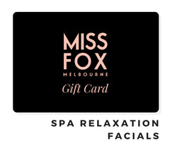MISS FOX Gift Cards: Spa Aromatherapy Facials