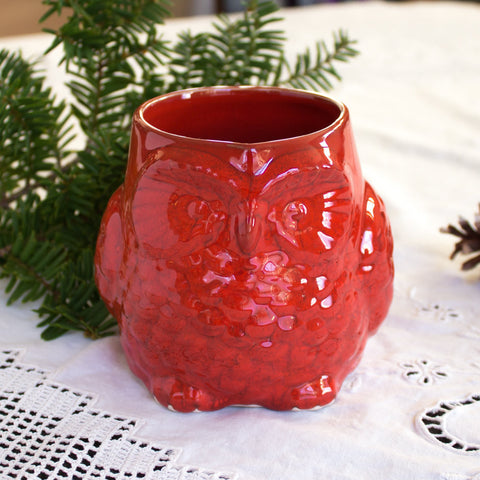 Cute Red Owl Mug -  Or Choose Your Color