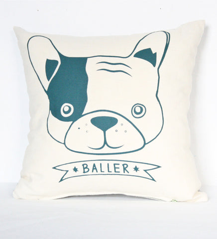 Baller - French Bulldog pillow case
