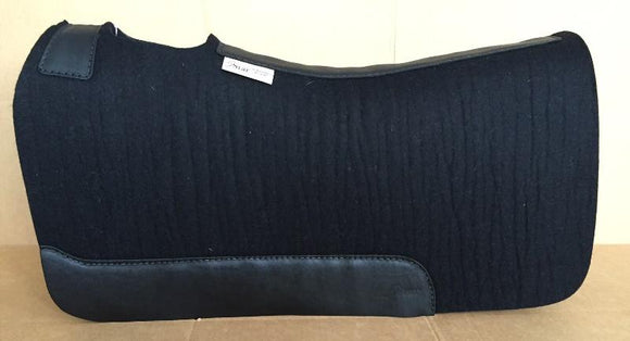 5 Star Saddle Pad black 7/8 inch black wear leathers