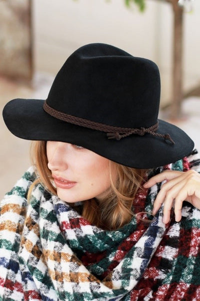 Way Out West Hats - wool wide brim hats, black, Closet Candy Boutique
