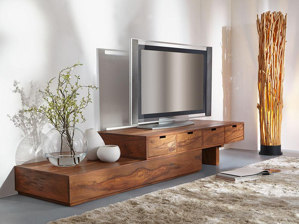 Solid Wood Widen Extendable Tv Unit