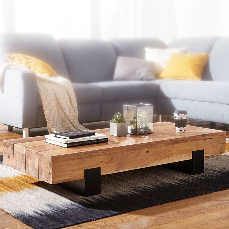 Solid Wood Indiana Contrast Coffee Table