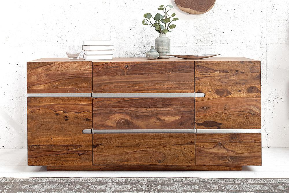 Solid Wood Shine Sideboard