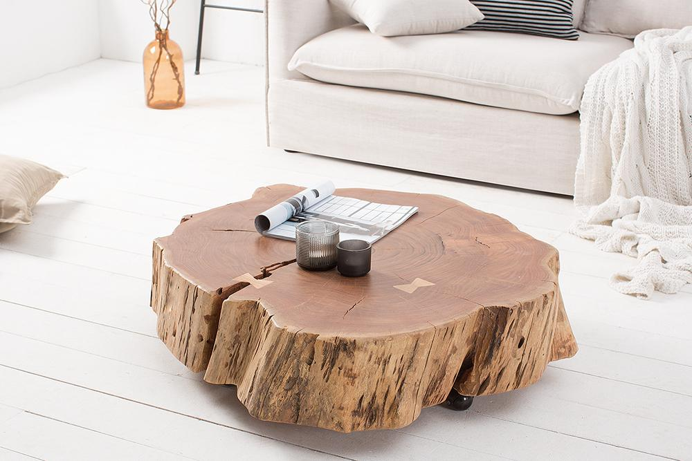 Solid Wood INDIANA Roll GRAND Coffee Table