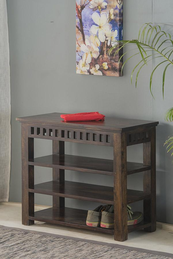 Solid Wood Kuber Shoe Rack