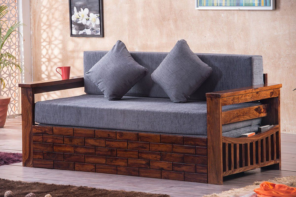 Solid Wood Crew Sofa cum Bed
