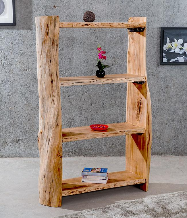 Wooden LOG Indiana Thar Bookcase