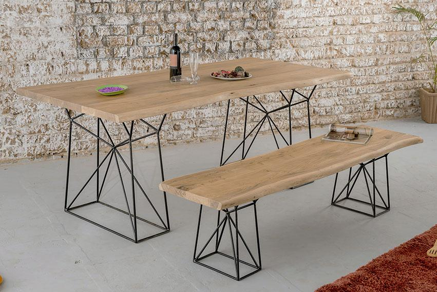 Solid Wood INDIANA Bare Dining Set