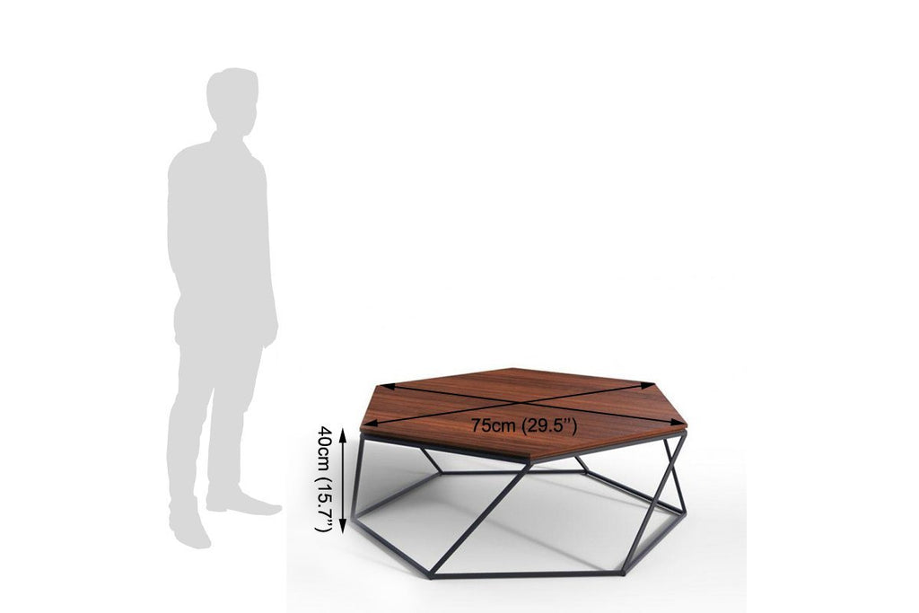 Solid Wood INDIANA Hex Coffee Table