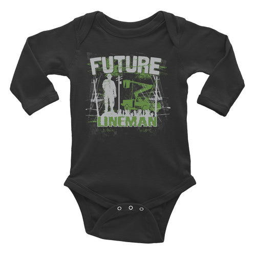 Future Lineman Infant Long Sleeve Bodysuit - Linemen Rock - Lineman Shirts