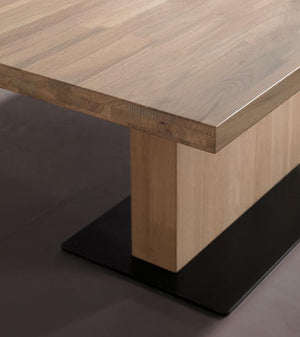 Norya 1.6m Pedestal Dining Table (KBZTW02) - Picket&Rail Singapore's Premium Furniture Retailer