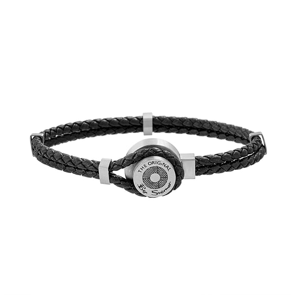 Stainless Steel Braided Leather Men's Bracelet
