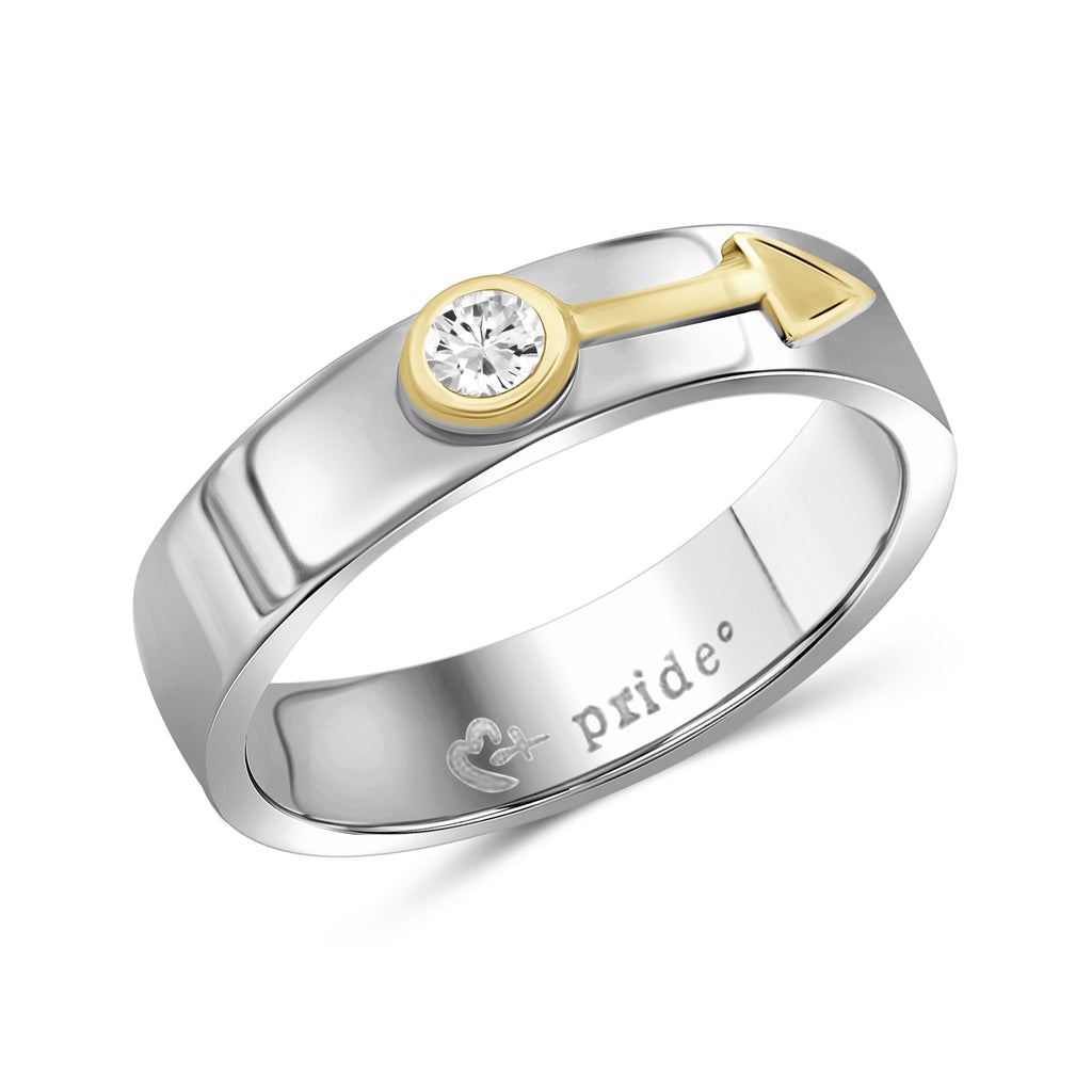 1/5 CTW 14K Two-tone Yellow Gold Male Insignia Ring