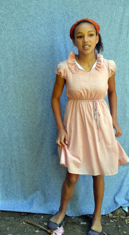 Cecelia dress, Alyce Dot. Dusty Rose