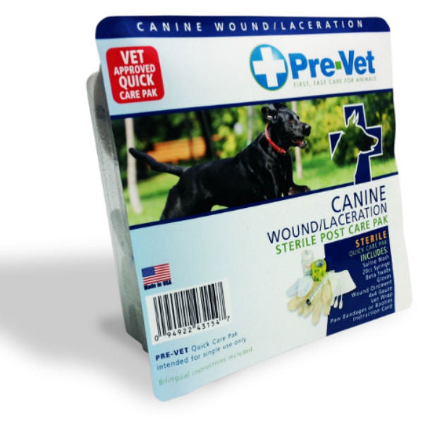 Pre-Vet Canine Wound/Laceration Quick Care Pak