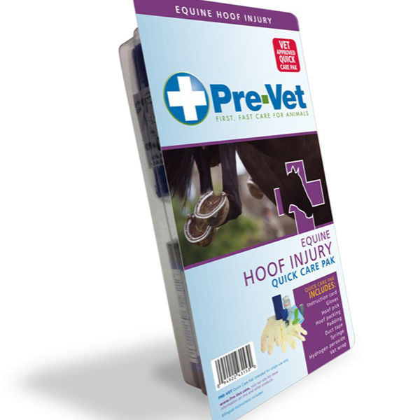 Pre-Vet Equine Hoof Injury Quick Care Pak