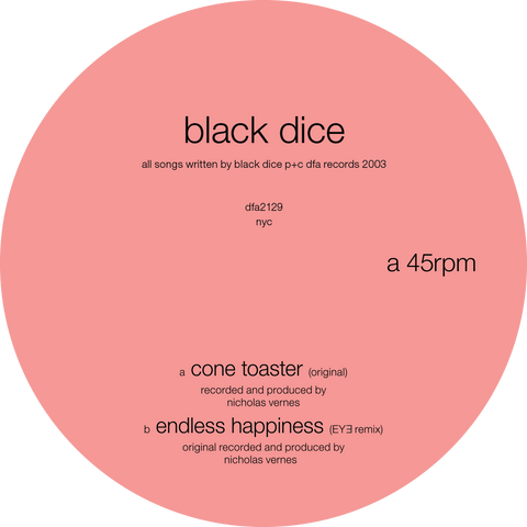 Black Dice - Cone Toaster